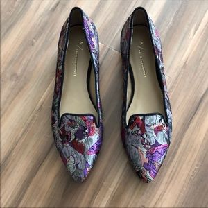New Anthropologie Butterfly brocade flats Size 7